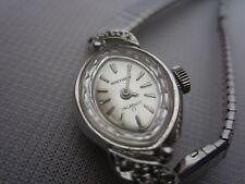 Waltham Incabloc 17j Jewels Stainless Steel Diamond Watch