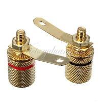 4pcs Gold Plated Amplifier Speaker Terminal Binding Post Banana Plug Jack 4mm