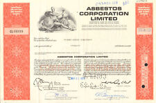 Asbestos Corporation Limited > 1975 Canada company stock certificate share