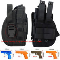 Tactical Right Hand Molle Gun Holster with Mag Pouch Pistol Holster Bag for 1911