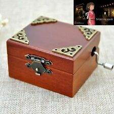 Vintage Square Hand Crank Music Box : SPIRITED AWAY-ALWAYS WITH YOU