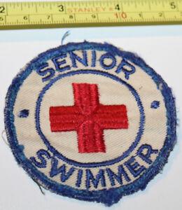Senior Swimmer Vintage Patch Badge