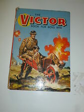 THE VICTOR BOOK for BOYS - Annual - Year 1974 - UK Annual ( Price Tab Intact)