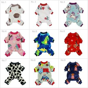 Fitwarm Thermal Winter Dog Pajamas Warm Pet Clothes Jumpsuit Fleece Coat Outfit