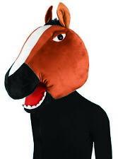Unisex Horse Mask Animal Mascot Head Funny Adult Halloween Costume Accessory