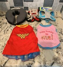 Puppy Small Dog Lot Gooby Top paw Harness Zen ZenCollar Wonder Woman Costume