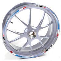 ESES Pegatina llanta Honda plata CBF 600 S 600S 600-S Azul Rojo adhesivo cintas