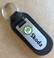 NEW Skoda key ring, genuine leather, Octavia, Fabia, Rapid, Yeti, Citigo