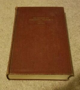 1938 Readings on Personal Property William Fryer Vintage Law Textbook 3rd Ed hc