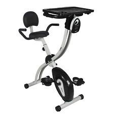 Xspec Foldable Stationary Upright Exercise Bike w/Desk 8-Level Resistance