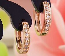 14k Gold Plated Baby Channel Huggy Children Hoop Baby Girls Earrings