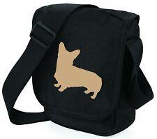 More details for corgi dog silhouette dog walkers bag shoulder bags birthday gift corgi bag