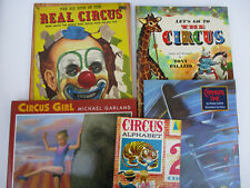 Circus Clowns Carnival Children's Books Literature & Fiction Illustrated Lot