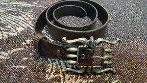 RRL Double RL Distressed Studded Leather Western Belt