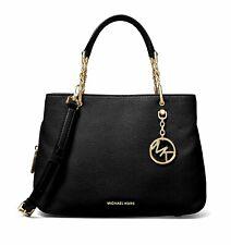 Michael Kors Bag Women's Bag Lillie Md Chain Satchel Black New