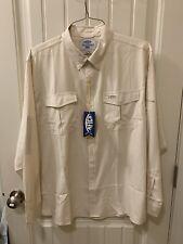 AFTCO Shirt Mens Large Tan New With Tag Fishing Shirt Long Sleeve