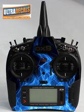 Blue Fire Skin Wrap Decal Spektrum DX9 DX8 DX7S Transmitter Controller Radio