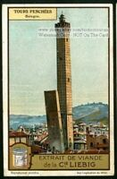 Leaning Tower Bologna Italy Italian Architecture 1920 Trade Ad Card