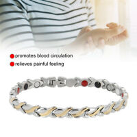 Women's Health Care Magnets Titanium Steel Therapy Energy Bracelet Chain Jewelry