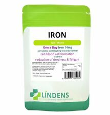 Iron 14mg x 120 tablets Lindens Energy Anaemic Supplement