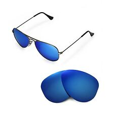 New Walleva Polarized Ice Blue Lenses 4 Ray-Ban Aviator RB3044 Small Metal 52mm