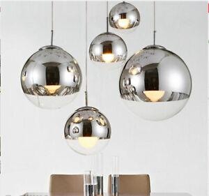 Modern Glass Ball Pendant Lamp Living Room/Bar Lights Fixture Chandeliers Decor