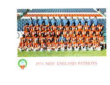 NEW ENGLAND PATRIOTS 8X10 TEAM PHOTOS LOT OF 4  1974 1976 1977 1978  BOSTON NFL