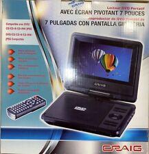 Craig 7 Inch Portable DVD Player Swivel Screen Display (28815-3)