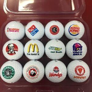 3 Dozen (Fast Food Logo's) Callaway Warbird Mint Golf Balls + Free Poker Chip