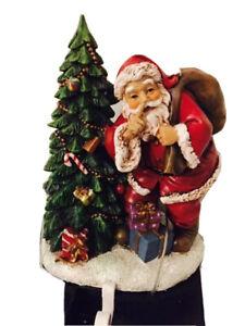 Christmas Shoppe Stocking Hanger Holder Santa Gift Bag Christmas Tree