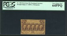 1862-63 25 Cent Fractional Currency Fr-1281 Certified Pcgs Very Choice New-64Ppq