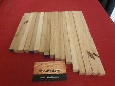 🍁17 x Oak Hardwood Off cuts Sticks L varies x W 13 - 15 mm Square (2123 W6)