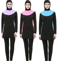 Muslim Women Full Cover Swimsuit Islamic Modest Swimwear Swimming Beachwear Arab