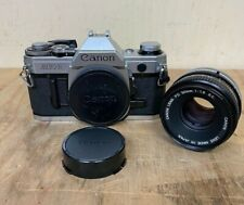 Canon AE-1 SLR 35mm Film Camera Body + FD 50mm 1:1.8 SC Lens