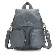 kipling Basic Plus Firefly Up Small Backpack Steel Grey Metallic