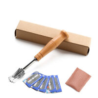 Bread Bakers Lame Slashing Tool Dough Making Cutter w/5 Blades Wood Handle New