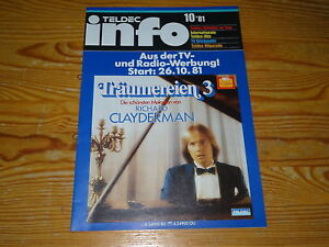 TELDEC-INFO 10 '81 - PROMO-KATAGOLG POP & KLASSIK / CLAYDERMANN, ROBERT KREIS