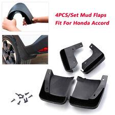 4PCS Car Splash Guards Mud Flaps Mudguard Kit Trims For 2003~2007 Honda Accord