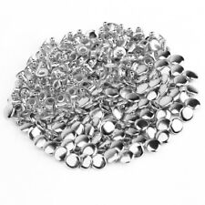 100pcs 8mm Silver Metal Tubular Rivet Stud Spikes Belt Leathercraft US Local