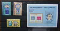 Grenada Grenadines 1985 Anniversary of United Nations set & Miniature Sheet MNH
