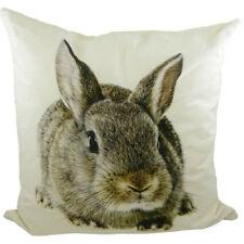 Kissen braunes Kaninchen - Dekokissen Hase Hasen 50 x 50 cm Zierkissen Canvas