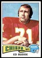 1975 TOPPS ED BUDDE KANSAS CITY CHIEFS #174