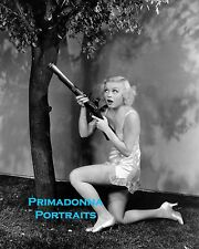 TOBY WING 8X10 Lab Photo 1940's Thanksgiving Hunting in Lingerie Sexy Leggy Babe