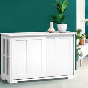 Artiss Buffet Sideboard Cabinet Storage Shelf Cupboard Hallway Table White