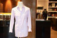 Cesare Attolini Shirt With 2 Button Shark Collar Color: Lilac Texture Kragen44