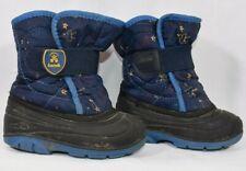 KAMIK Toddler Boy BLUE BLACK Winter Snow Boots Size 7 EUC