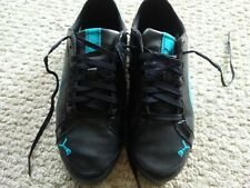 New womens Pumas size 7 black and blue with glitter/sparkle in blue parts