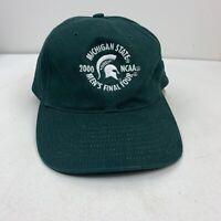 Michigan Spartans Green Strap Back 2000 NCAA Final Four Hat Cap NWT