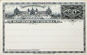 GUATEMALA 3c UPU UNUSED POSTAL STATIONERY CARD