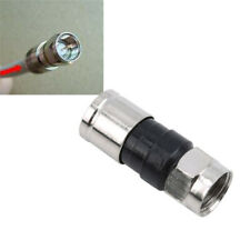 10 F-Type Male Plug Compression Durable Connectors For RG6 Coax Coaxial TV Cable